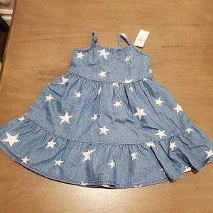 NWT Old Navy Denin Chambray Stars Dress